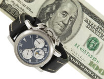 Time is money. Over white Royalty Free Stock Photography