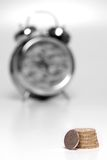 Time is Money. UK minimum wage at ?5.05 per hour Stock Image