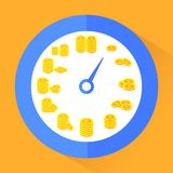 Time is money. Abstract vector illustration in flat style Royalty Free Stock Image