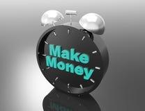 Time is money! Alarm clock Stock Photography