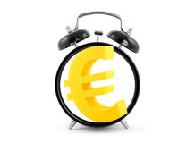 Time is money. Alarm clock with euro symbol. Stock Photos