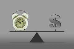 Time money - balance Royalty Free Stock Photography
