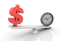 Time Money Balance Stock Image