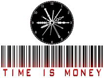 Time is money bar code Stock Photography