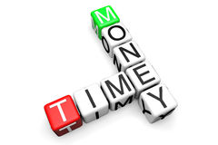 Time is money blocks Royalty Free Stock Photography