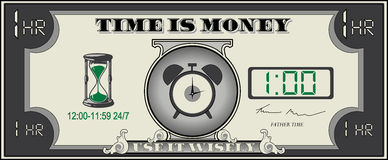 Time is Money. Time and money are both limited. Use them wisely stock photo