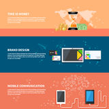 TIme is money, branding, communication concept set Stock Photo