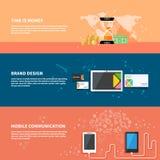TIme is money, branding, communication concept set Stock Photo