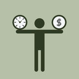 Time and money burden Royalty Free Stock Image