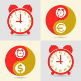 Time is money, business concept. Vector. Royalty Free Stock Photos