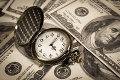 Time is money,business concept. Time is money,vintage style color Royalty Free Stock Images