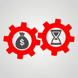 Time is money. Business Flat  Stock Image