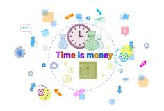 Time Is Money, Business Schedule Management Deadline Concept Web Banner Stock Photo