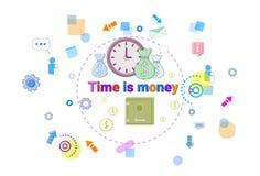 Time Is Money, Business Schedule Management Deadline Concept Web Banner. Vector illustration Stock Photo
