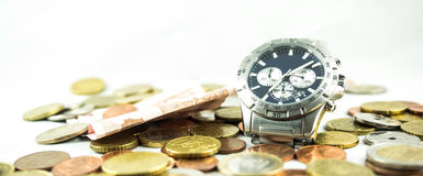 Time is money. In a businessman´s life Stock Images