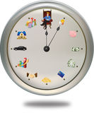 Time is money ***can set the clock hand as you wan. This special clock shows how a person can achieve their financial-goal in 12 periods of life-time. The short Stock Photos