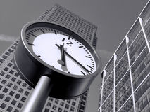 Time is Money in Canary Wharf Stock Photo