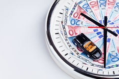 Time money and a car Stock Photography