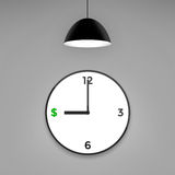 Time is money, clock concept Stock Images