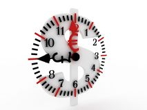 Time is money. Clock placed on dollar sign. Stock Photography