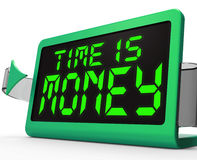 Time Is Money Clock Shows Valuable And Important Royalty Free Stock Images