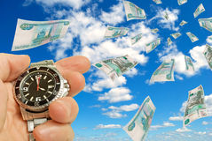 Time - money! Royalty Free Stock Photo
