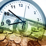 Time is money concept Stock Photos