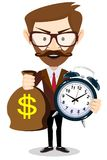 Time is money concept background. Money saving. Time management Royalty Free Stock Photos