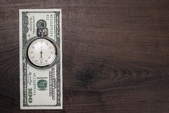 Time and money concept background Stock Photos