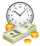 Time is money concept. Royalty Free Stock Photo