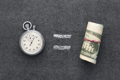 Time is money. Concept on the blackboard Royalty Free Stock Images