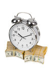Time is money concept with clock Royalty Free Stock Photo