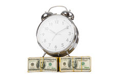Time is money concept with clock Royalty Free Stock Photos