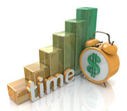 Time is money concept. In the design of the information related to finances Royalty Free Stock Image