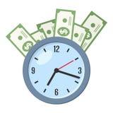 Time Is Money Concept Flat Icon on White Stock Photos