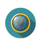 Time is money concept with a gold watch on a white background. V. Ector illustration Stock Images