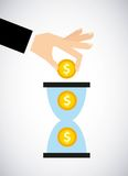 Time is money concept icon Stock Photography