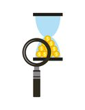Time is money concept icon Royalty Free Stock Photo