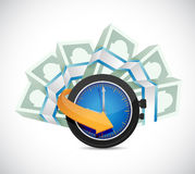 Time is money concept illustration design Stock Photography