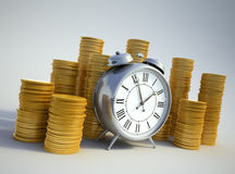Time is money concept image royalty free illustration