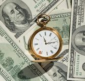 Time and Money concept image. Stock Photos