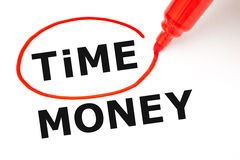 Time Money Concept Red Marker Royalty Free Stock Image