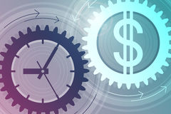 Time and money. Concept of successful business Stock Photo