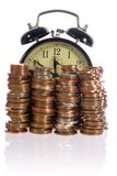 Time is money, concept with uk coins Stock Images