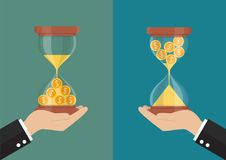 Time is money concept. Vector illustration Royalty Free Stock Image