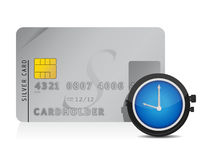 Time is money credit card concept Stock Photos