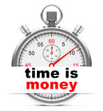 Time is money. 3d generated picture of a time is money concept Royalty Free Stock Image