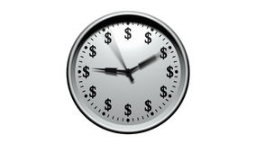 Time Is Money - Dollar Clock stock video