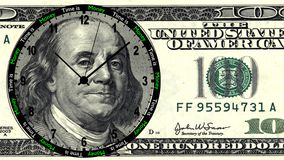Time is Money 100 Dollar Clock Stock Images