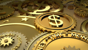 Time is money. dollar currency highlights. Royalty Free Stock Photography